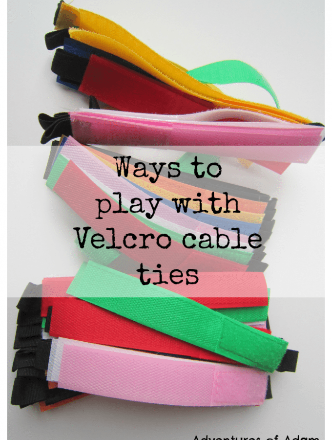 Ways to play with Velcro cable ties