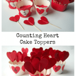 Counting Heart Cake Toppers
