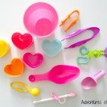 Fine motor tools for Valentine play