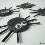 Toddler made clay spiders