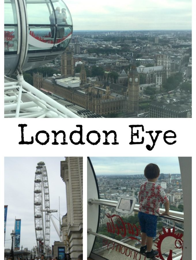 The London Eye with a four year old