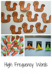 Ways to play with High Frequency Words