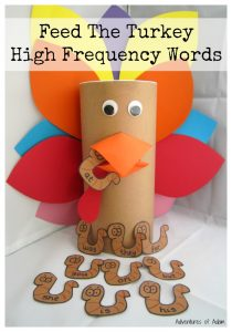 Feed The Turkey High Frequency Words